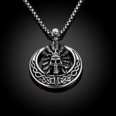 Skeleton Restoring Ancient Ways is Exaggerated Men Titanium Steel Pendant Necklace