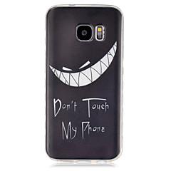 Varten Samsung Galaxy kotelo Läpinäkyvä Etui Takakuori Etui Mustavalkoinen TPU SamsungS7 / S6 edge / S6 / S5 Mini / S5 / S4 Mini / S4 /