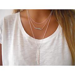 Dam Hänge Halsband Kristall Legering Europeisk kostym smycken Mode Minimalistisk Stil Pärlor Smycken Till Party Dagligen Casual