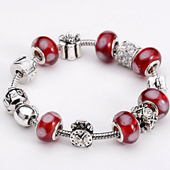 Fashion Jewelry Bracelets&brangle Glass European Beads bracelets for Women Gift Strand Beads bracelets BLH088