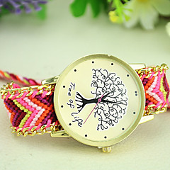 Women's New Fashion Ethnic Style Weaving Exquisite Handmade Tree of Life Bracelet Watch Cool Watches Unique Watches