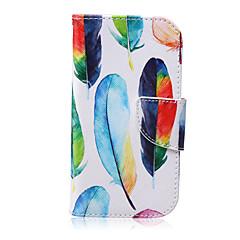 Voor Samsung Galaxy hoesje Portemonnee / Kaarthouder / met standaard / Flip hoesje Volledige behuizing hoesje Veer PU-leer SamsungS6 edge
