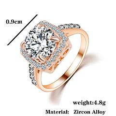 Anéis Grossos Zircão Zircônia Cubica Liga Moda Prata Dourado Jóias Casamento Festa 1peça