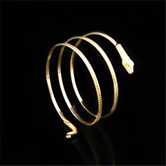 FX Vintage / Cute / Party / Work / Casual Gold Plated / Alloy Cuff Bracelet