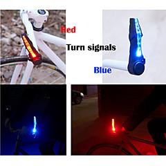 Cykellys , sikkerhedslys - 2 Tilstand 15 Lumens Vanntett / Let at bære LR44 x 2*LR44 Batteri Cykling/Cykel Sort Cykel Bicycle Lights 2