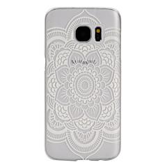 For Samsung Galaxy S7 Edge Syrematteret Transparent Etui Bagcover Etui Blomst PC for SamsungS7 Active S7 plus S7 edge plus S7 edge S7 S6