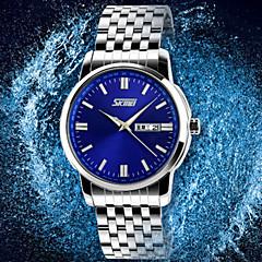 Masculino Relógio Elegante Quartz Impermeável Aço Inoxidável Banda Prata marca