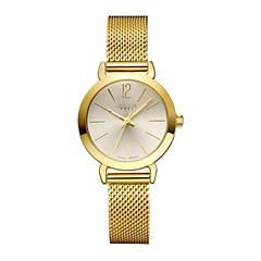 julius luxe vrouwen horloge roestvrij stalen band casual kleding polshorloge Gold Series ja-732