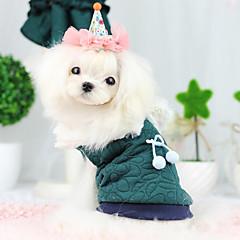 Perros Abrigos Verde / Azul Ropa para Perro Primavera/Otoño Moda