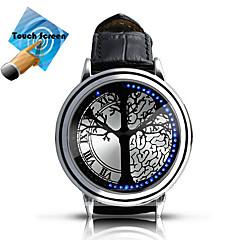 Da uomo / Da donna / Unisex Smart watch Digitale LED / Touchscreen Pelle Banda Multicolore Marca-