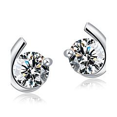 Kolczyki na sztyft Cyrkonia luksusowa biżuteria Srebro standardowe Cyrkon Cyrkonia MOON Silver Biżuteria Na Ślub Impreza Codzienny 2pcs