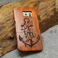 Natural Wood Samsung Case Anchor Sailor Captain Carving Concavo Convex Hard Back Cover for Galaxy S6 edge+/S6 edge/S6