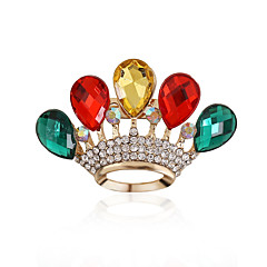 Damskie Kamień szlachetny Akrylowy Kryształ górski sztuczna Diament Stop Kropla Czerwony Green Tęczowy Biżuteria Ślub Impreza Codzienny