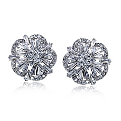 2016 Women Fashion Stud Earrings AAA Quality Cubic Zirconia EarringsImitation Diamond Birthstone