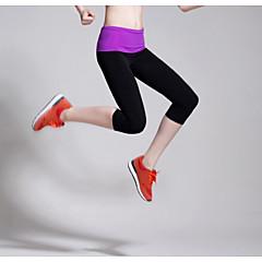 Dame Løb 3/4 Tights Leggins Underdele Åndbart Komprimering Strækbart Svedreducerende Forår Sommer EfterårYoga Pilates Træning & Fitness