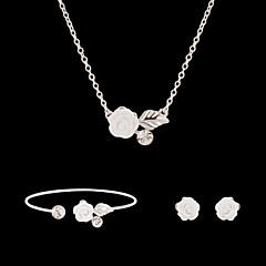 여성제품-귀여운 / 파티-목걸이 / 귀걸이 / 팔찌(플래티넘 도금 / 합금 / 모조 다이아몬드 / 모조 진주)