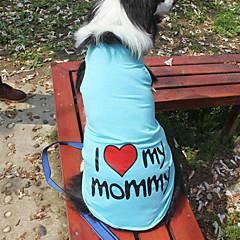 Gatos / Perros Camiseta / Ropa / Ropa Azul / Rosado / Gris / Naranja Verano / Primavera/Otoño Letra y Número Moda-Lovoyager