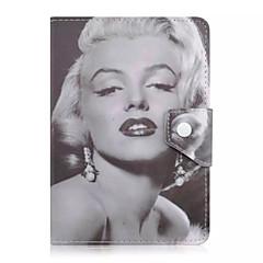 Marilyn Monroe patrón de caja de la tableta de cuero universal de la cubierta del caso del soporte de 7 pulgadas para la cubierta del