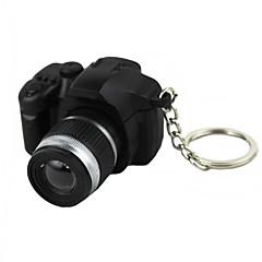 LED-belysning Nyckelknippa Form på kamera Special Mode Nyckelknippa Svart Blekna Plast