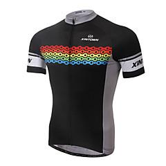 XINTOWN® Maglia da ciclismo Per uomo Maniche corte BiciclettaTraspirante / Asciugatura rapida / Resistente ai raggi UV / Limita la