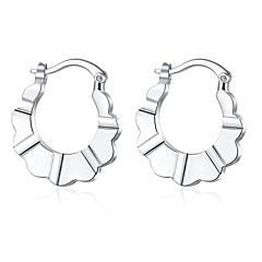 Oorknopjes Clip oorbellen Modieus Sterling zilver Koper Verzilverd Zilver Sieraden Voor Bruiloft Feest Dagelijks Causaal 1 paar