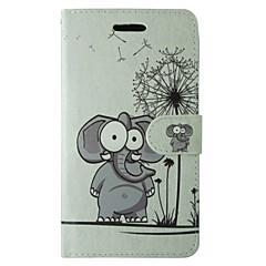Taske til samsung galaxy s7 s8 tegneserie mælkebøtte elefant blomst fuld krops cover med kort og stativ taske til s6 s6 kant