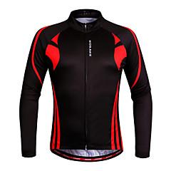Wosawe® Maglia da ciclismo Per donna / Unisex Maniche lunghe BiciclettaTraspirante / Asciugatura rapida / Design anatomico / Permeabile