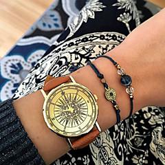 Heren / Dames / Uniseks Modieus horloge Kwarts PU Band Zwart / Wit / Bruin / Groen / Kaki Merk-