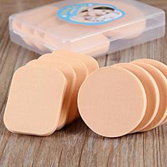 Poduszeczka do pudru/Gąbka Beauty Blender Gąbki naturalne 8 Okragłe / Kwadratowy 12X10X2.5 Normalny Natural
