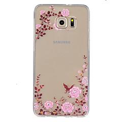 Para Samsung Galaxy S7 Edge Transparente Capinha Capa Traseira Capinha Flor TPU SamsungS7 Active / S7 plus / S7 edge plus / S7 edge / S7