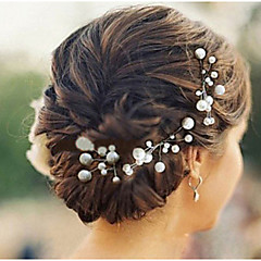 Women's Pearl Flower Hair Jewelry HairPins for Wedding Party(Set of 6)