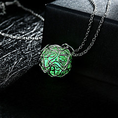 Dame Halskædevedhæng Cirkelformet Geometrisk form Legering Oplyst Personaliseret Hul Grøn Blå Lyseblå Smykker ForBryllup Fest Daglig