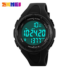 Hombre Reloj Deportivo Digital LCD / Calendario / Cronógrafo / Resistente al Agua / Dos Husos Horarios / Reloj Deportivo PU Banda Marca-