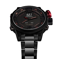 ASJ Luxury Brand LED Waterproof Electronic Analog Men Watch Army Dive Dual Time Hombre