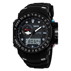 SKMEI® Men's Sporty Watch Analog-Digital Dual Time Zones Slide Rule/Calendar/Chronograph/Alarm Cool Watch Unique Watch