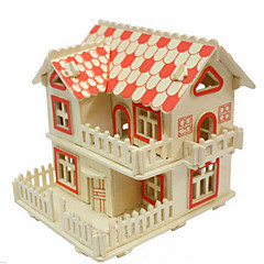 European-Style Villas Wood 3D Puzzles Diy Toys