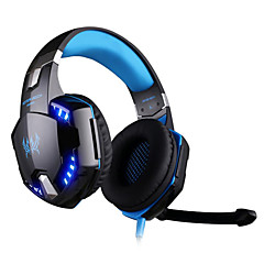 kotion hver g2200 gaming hovedtelefoner usb 7.1 surround stereo headset vibration system, drejelig mikrofon førte