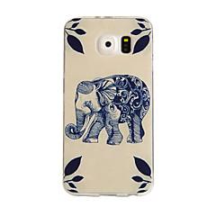 Wood Elephant Pattern TPU Soft Case for Samsung Galaxy S6/S6 Edge/S6 Edge Plus
