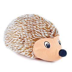 고양이 장난감 강아지 장난감 반려동물 장난감 플러시 장난감 찍찍 소리를 내다 고슴도치 직물 브라운
