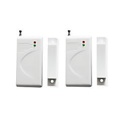 Okno alarmu drzwi wejściowe 2szt / lot czujka magnetyczna czujka czujnik bezprzewodowy 433 tylko dla systemu alarmowego dostawcy 15338
