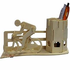 자전거 브러시 냄비 나무 3D 퍼즐 DIY 장난감