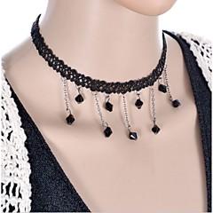 Graceful Vintage Gothic Style Exquisite Velvet Black Double Layer Choker Necklace Torque