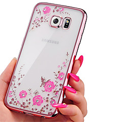Electroplating Secret Garden Flower Diamond Phone Cases For Samsung Galaxy A310/A510/A710/A5/A7/A8/A9