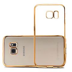 Na Samsung Galaxy S7 Edge Galwanizowane / Ultra cienkie / Przezroczyste Kılıf Etui na tył Kılıf Jeden kolor TPU SamsungS7 edge / S7 / S6