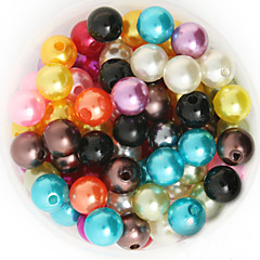 Beadia 64g(Approx 300Pcs)  ABS Pearl Beads 8mm Round 15 Colors U-Pick Plastic Loose Beads DIY Accessories