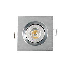 3W Verzonken lampen / Plafondlampen / Paneellampen Verzonken ombouw 1 Krachtige LED 200-300 lm Warm wit Dimbaar AC 220-240 V