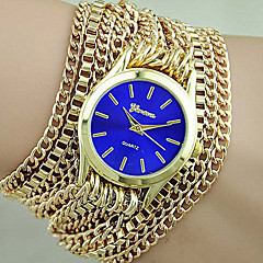 New Women Geneva Bracelet Watch Alloy Wrap Watch Gift for Women Cool Watches Unique Watches