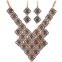 Fashion  Vintage Summer Jewelry Gem / Rhinestone Jewelry Set Necklace/Earrings