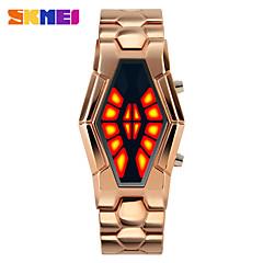 Heren Dress horloge Unieke creatieve horloge Digitaal horloge Digitaal LED Legering Band Creatief Zwart Blauw Zilver Goud Goud Rose