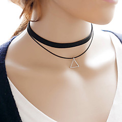 Simple Double-deck Triangle Flannelette  Choker Necklaces Daily / Casual 1pc